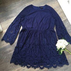 Lane Bryant navy lace dress